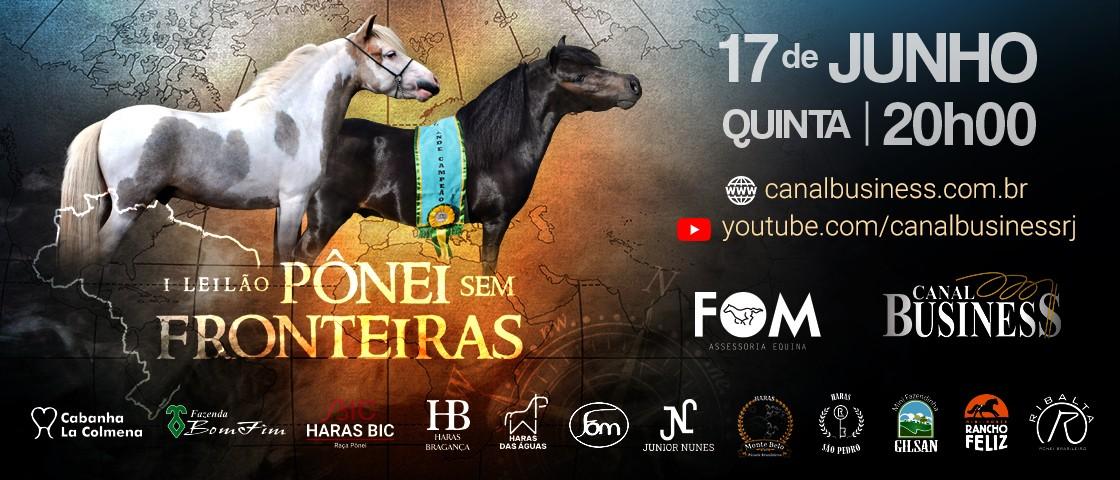 Slide LEILÃO PÔNEI SEM FRONTEIRAS